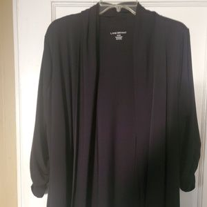 Lane Bryant Woman's Size 18/20 Black Cardigan Top